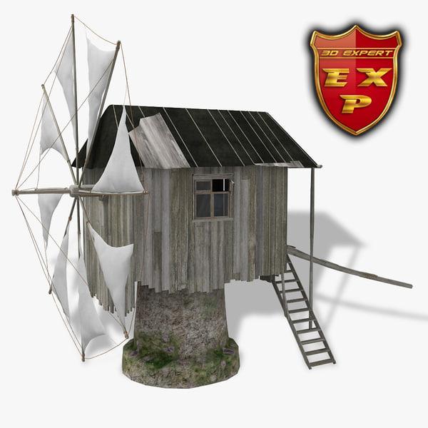 windmill old 3d model