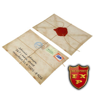 envelope close 3d obj