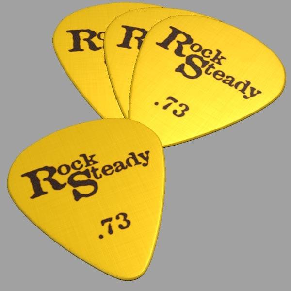 guitar pick 3d obj