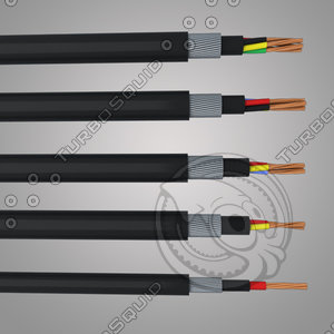 3d model 5 cable
