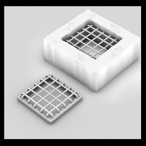 3ds max sewer cover metal