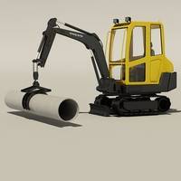 3d model compact pipe lifter