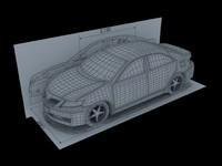 simple car 3d model