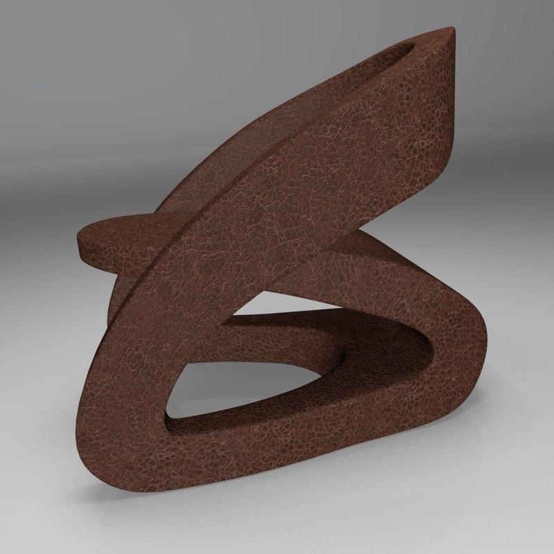 obj modern leather chair