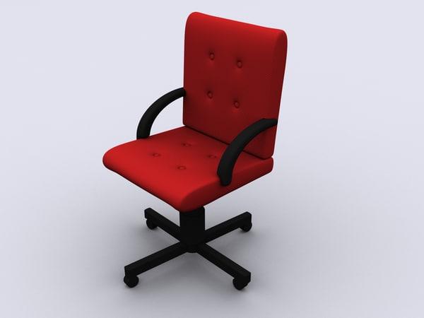 free armchair wheels 3d model