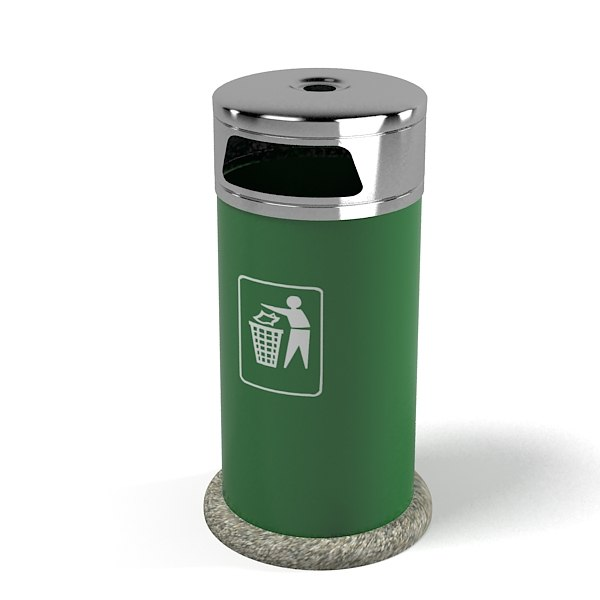 3ds max ashtray garbage bin