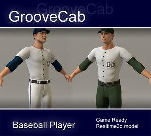 3ds max baseball player ball