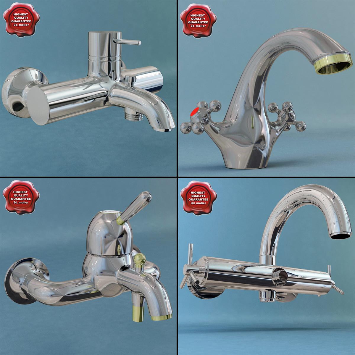 free bathroom mixers 3d model