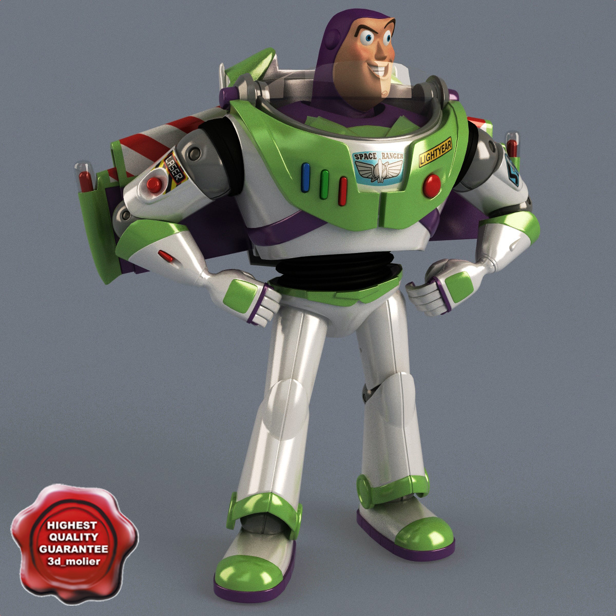 3ds buzz lightyear pose 1