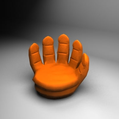 hand couch 3d max