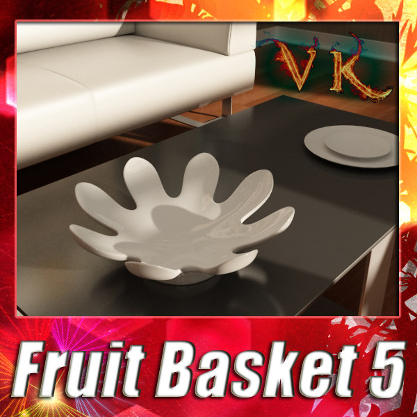 3d fruit basket 05