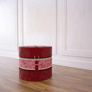 3d cushion pouffe model