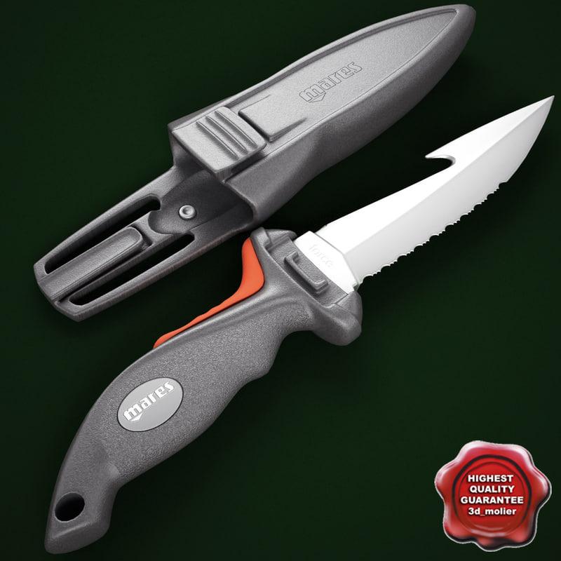 mares force knife 3d 3ds