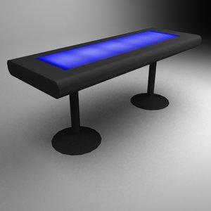 neptun bat table 3d max