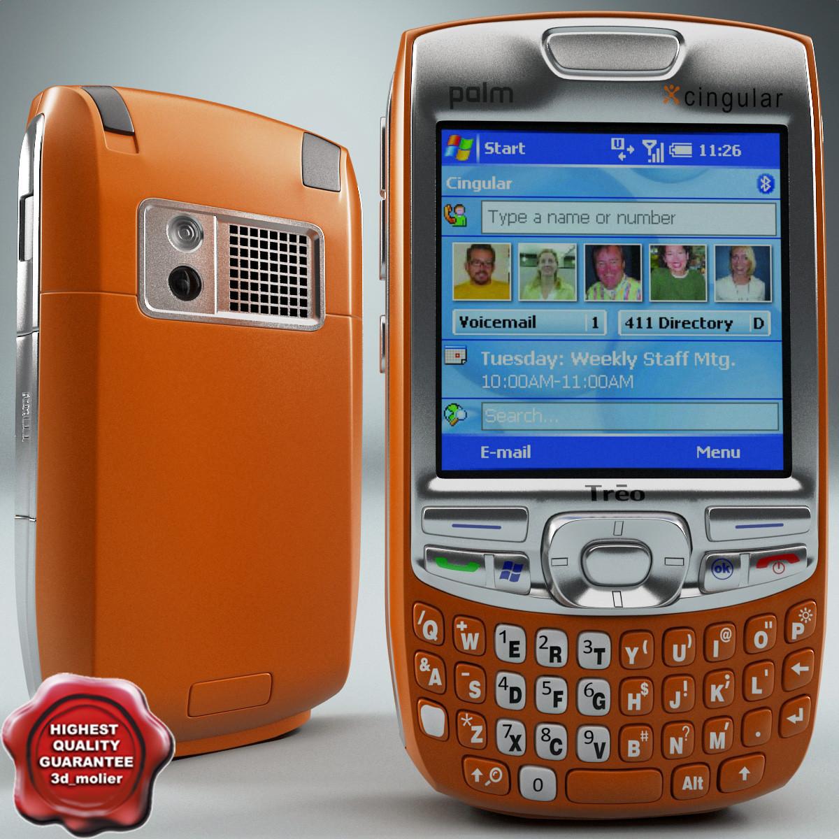 3d palm treo 750 orange