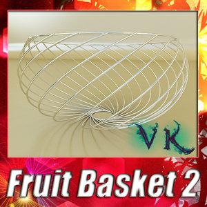 fruit basket 02 3d 3ds