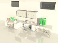3d model - laboratory