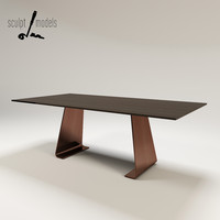 3d model table designed christian