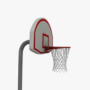 outdoor basketball court 3d model