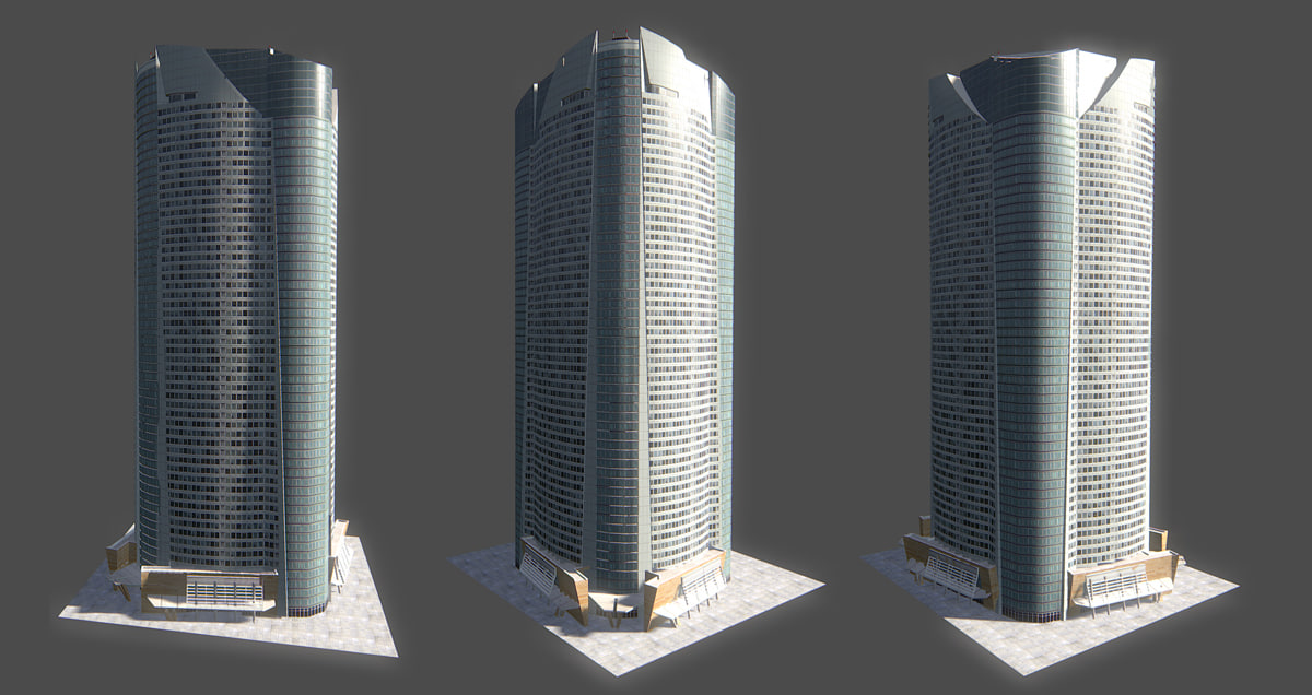 mori tower 3d model