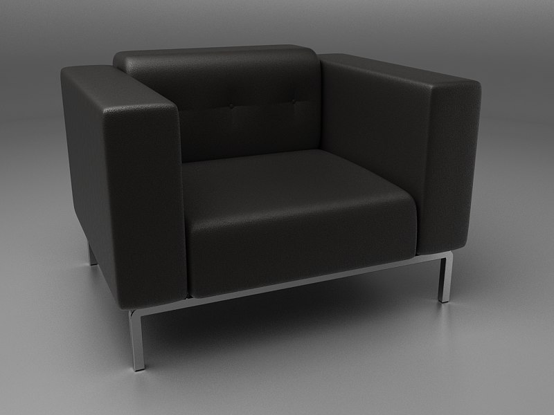 leather sofa obj