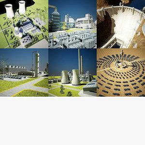 power plant station 3d model