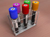 Test Tube Blood Vials in a Rack