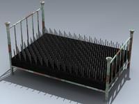 3d model bed nails