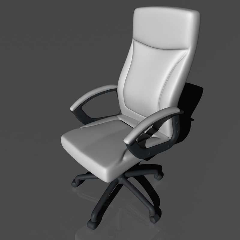 executive chair 3d obj