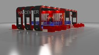 fair stand exhibition advertisement 3d ma