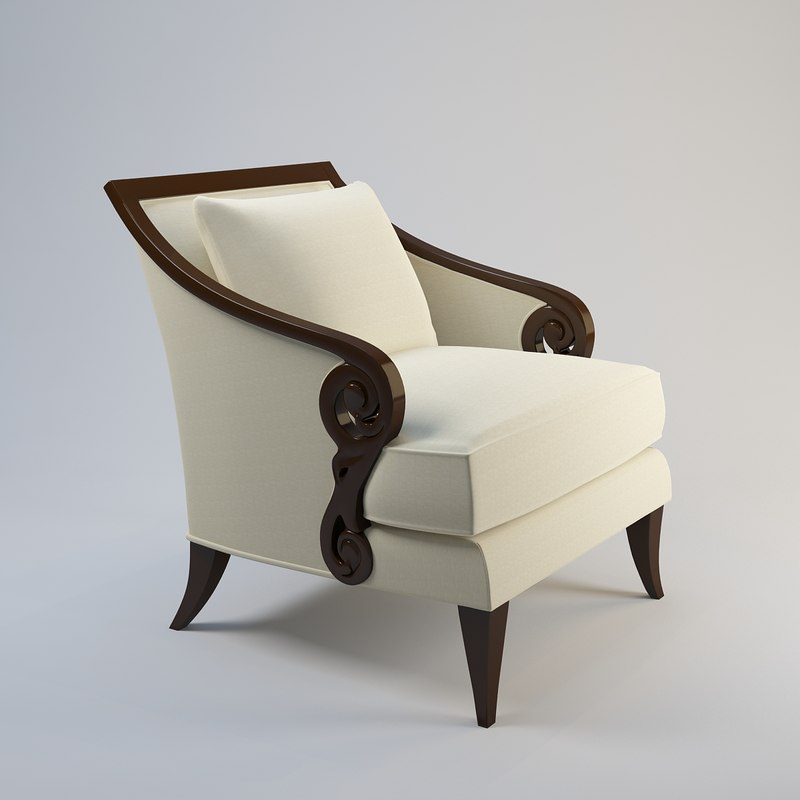 3d christopher guy armchair 60-0027 model