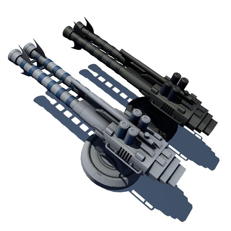 guns turrets obj
