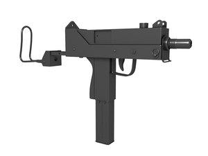 gun modeled 3ds