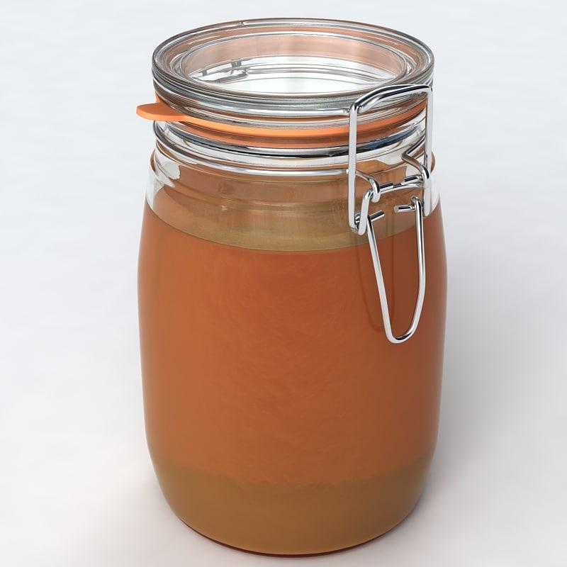 glass jar 3d 3ds