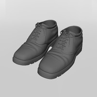 leather shoe 3d model