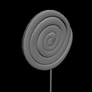 free lollipop 3d model