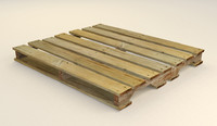 3d model pallets shipping wood
