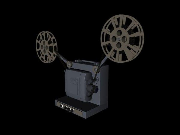 3d model film projector