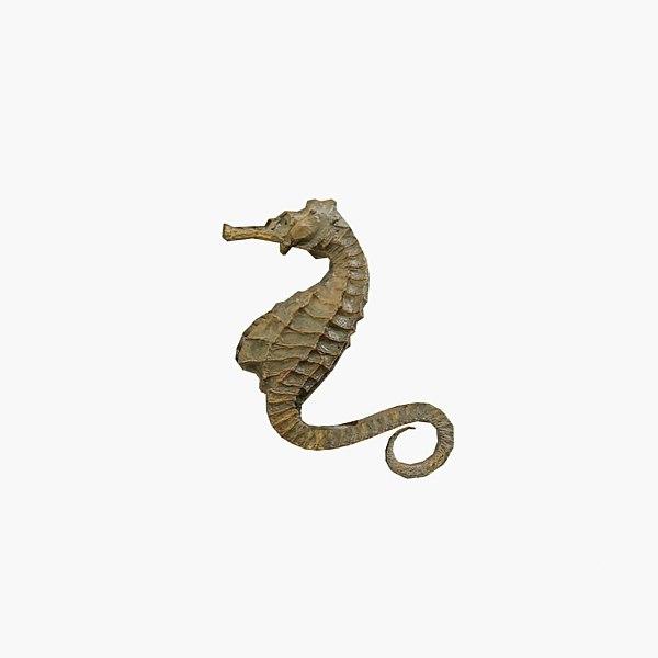 3d model of sea horse
