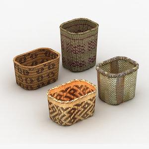 3d native baskets model