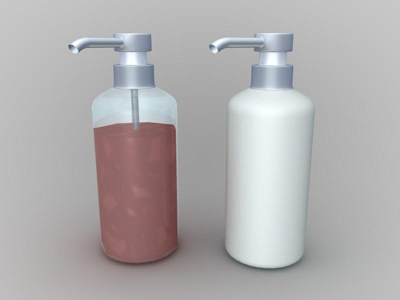 3d c4d soap containers liquid