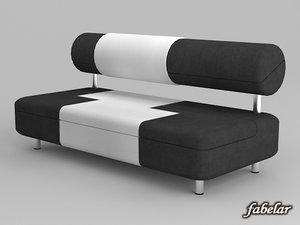 3d alcantara sofa model