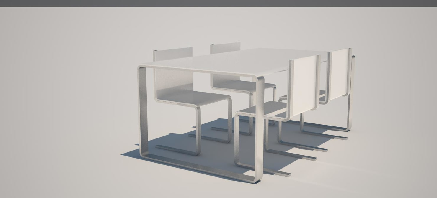 3d table kitchen