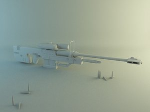 3d sniper halo model