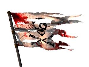 maya ncloth torn flag