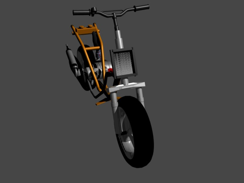 3d scooter moto vehicle