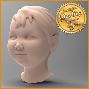 3d model baby boy head