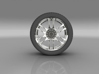 3ds max car tyre