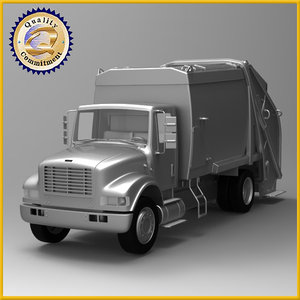 3d model truck garbage dump