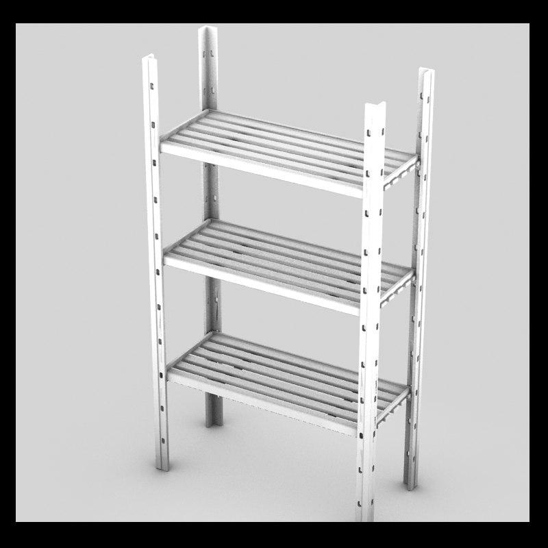 3ds max rack metal